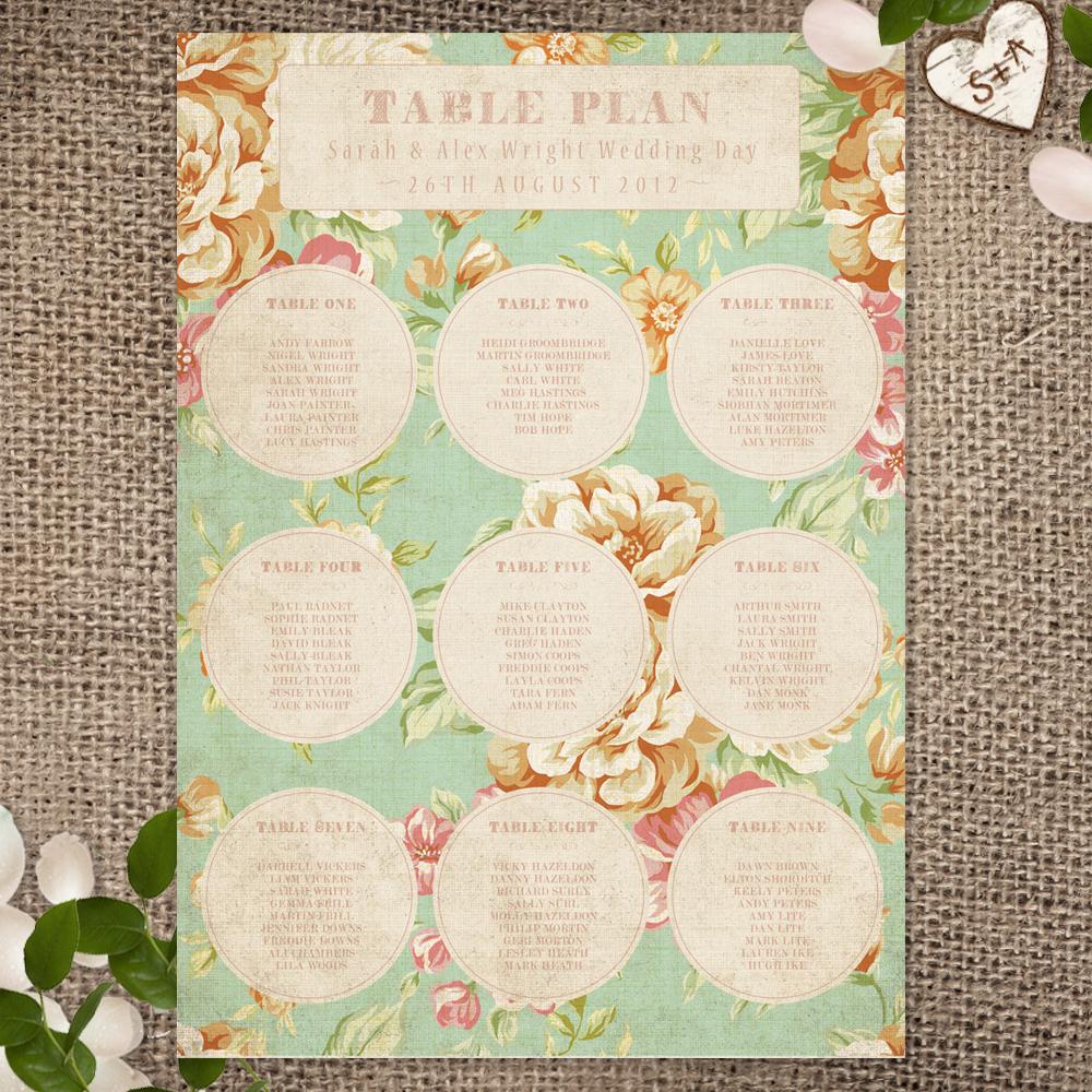 010Vintage Floral_Table Plan