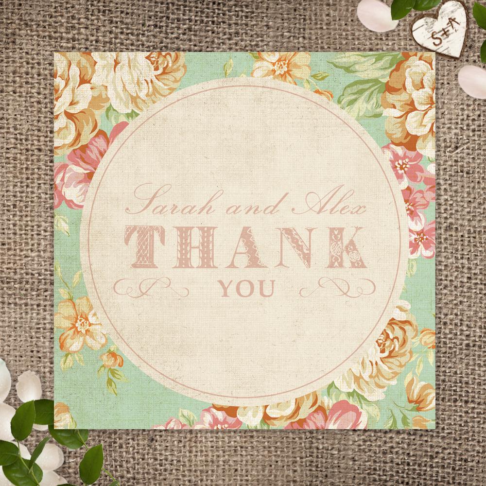 011Vintage Floral_Thank You