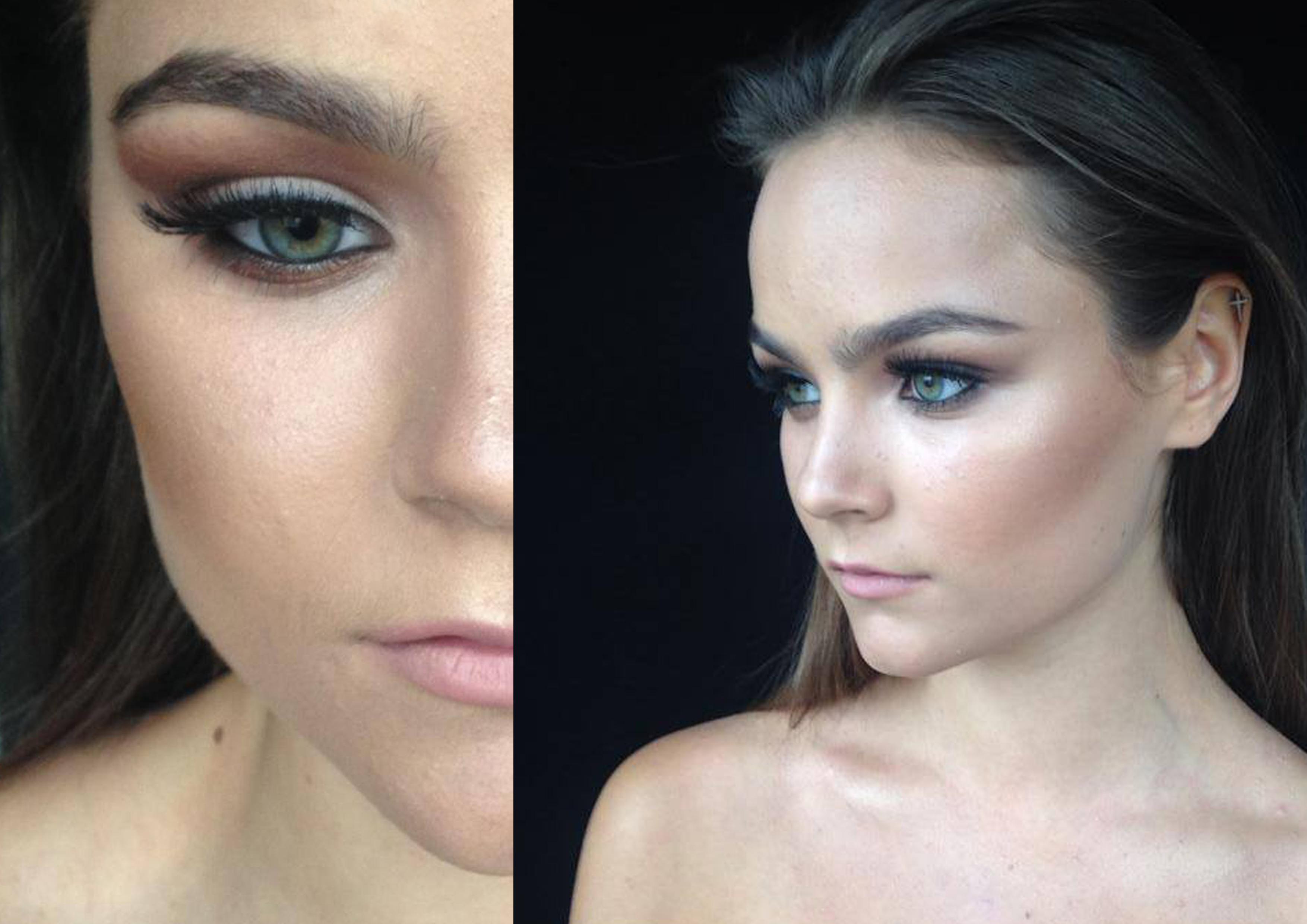 Close up Makeup Wedding Photos
