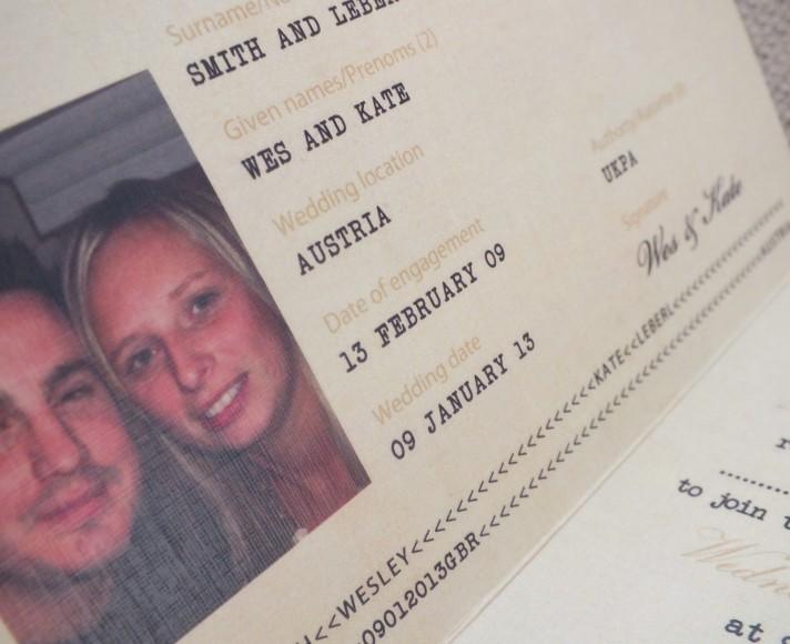 Wedding Passport Invite