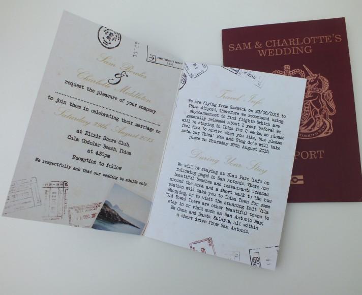 Bespoke Wedding Passport Invite by Heart Invites Wedding Stationers