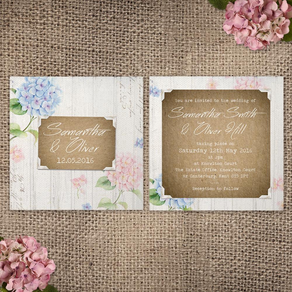 003 Hydrangea Garden_Invite Front and Back