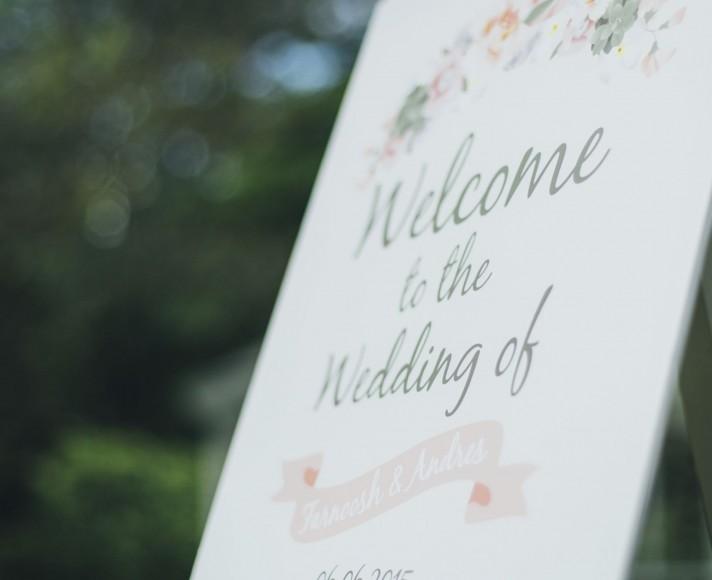 Bespoke Floral Wedding Table Plan