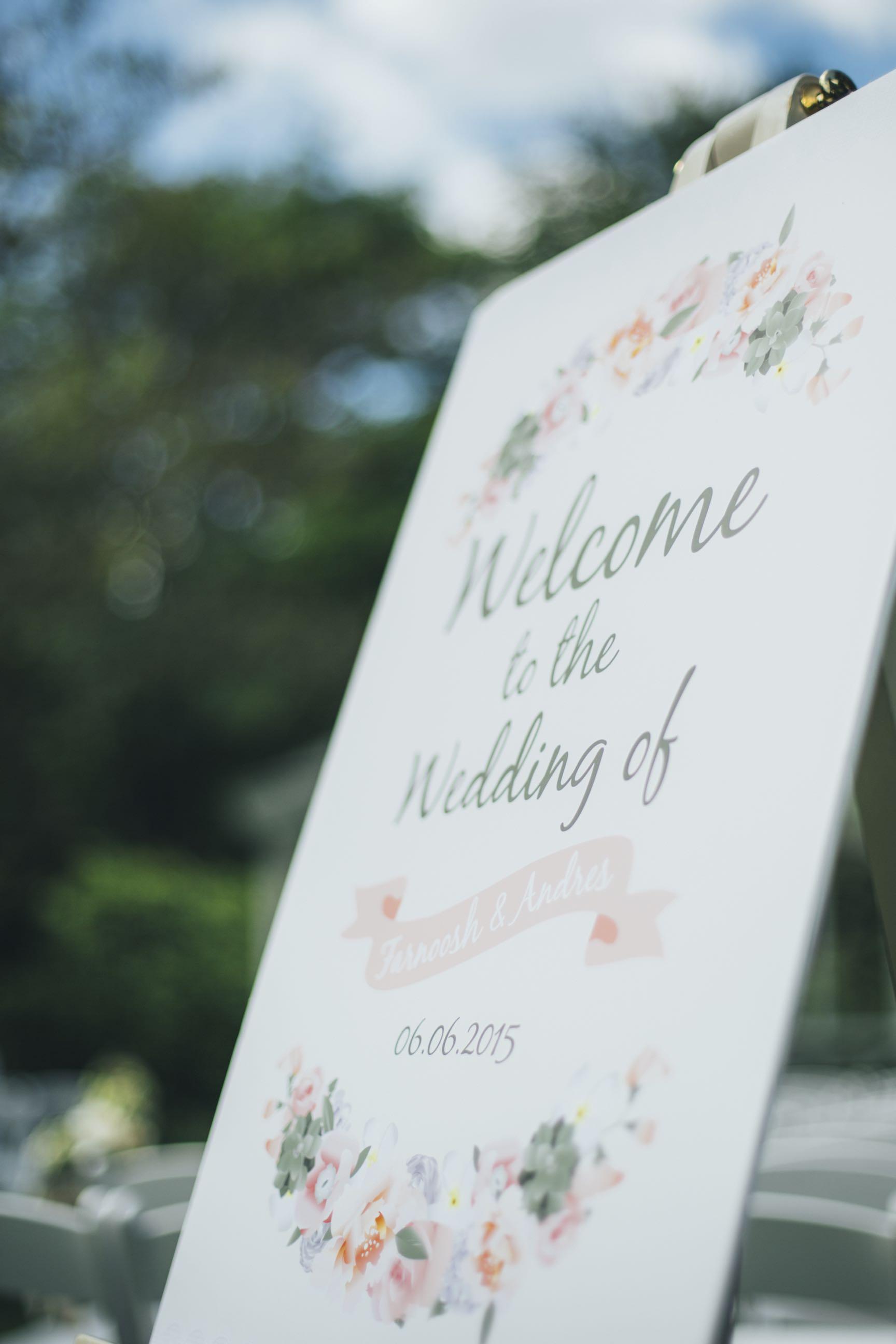 Bespoke wedding stationery - Floral Wedding Table Plan