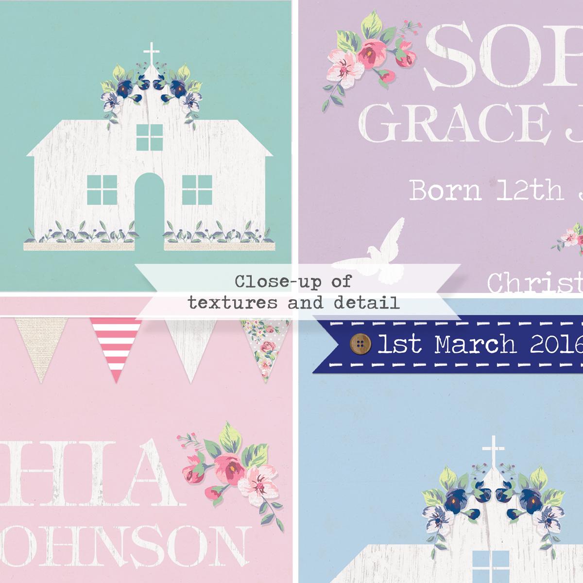 personalised christening prints
