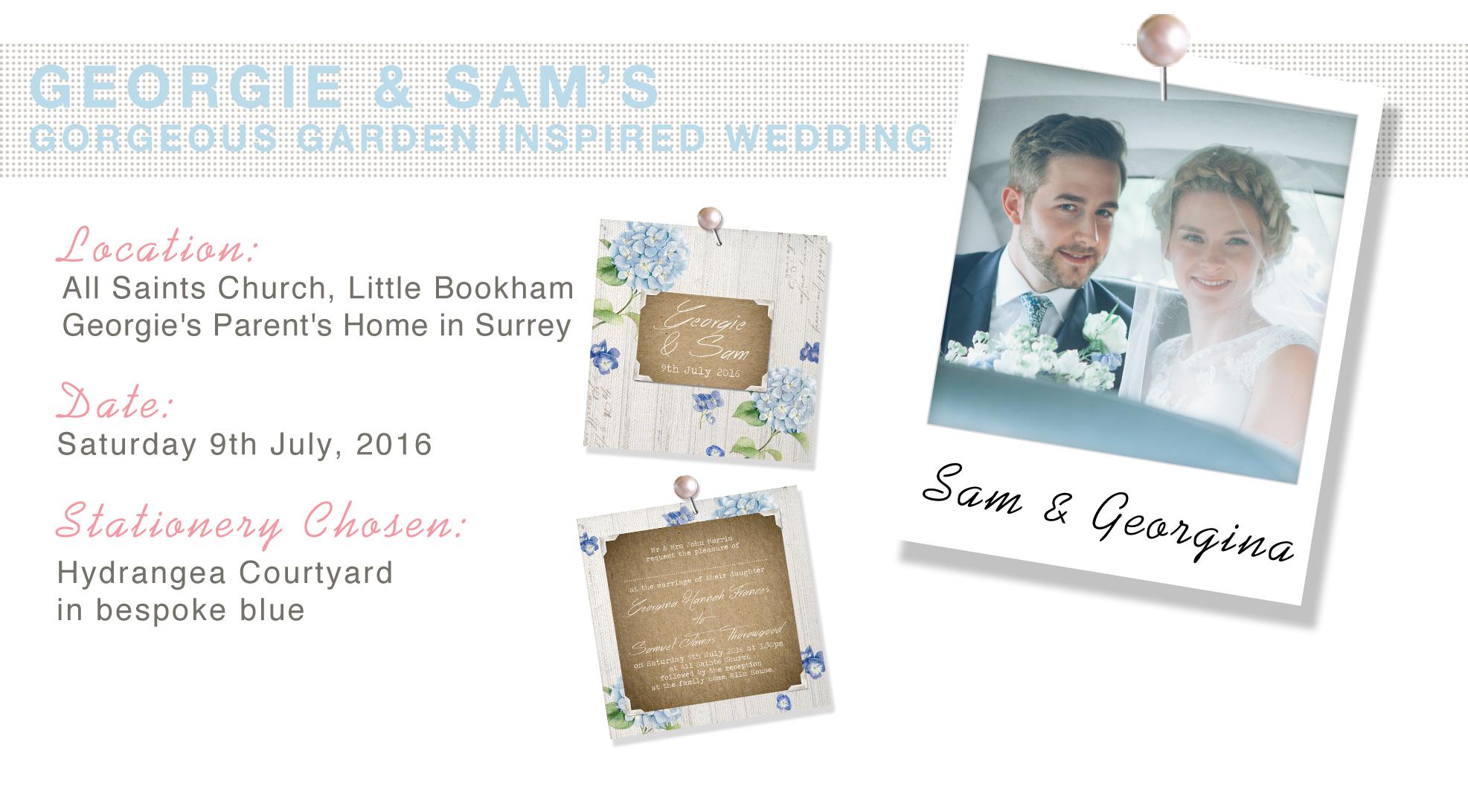 Geogina & Sam's Shabby Chic Garden Wedding