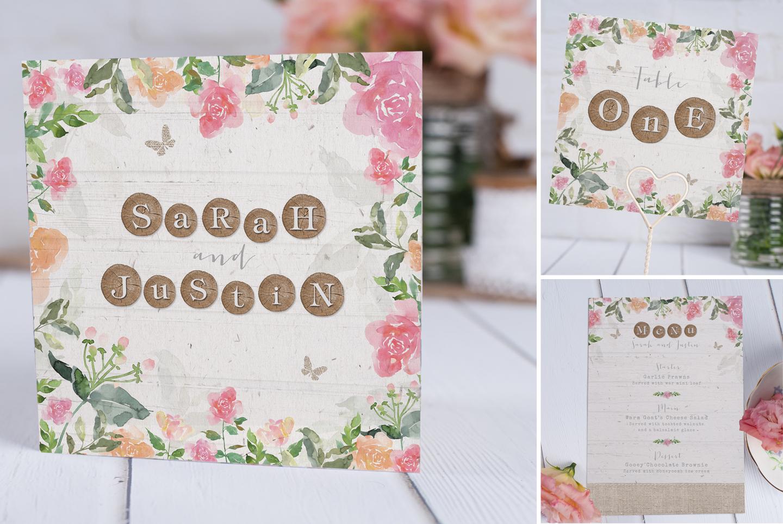 Secret Garden Floral Wedding Stationery