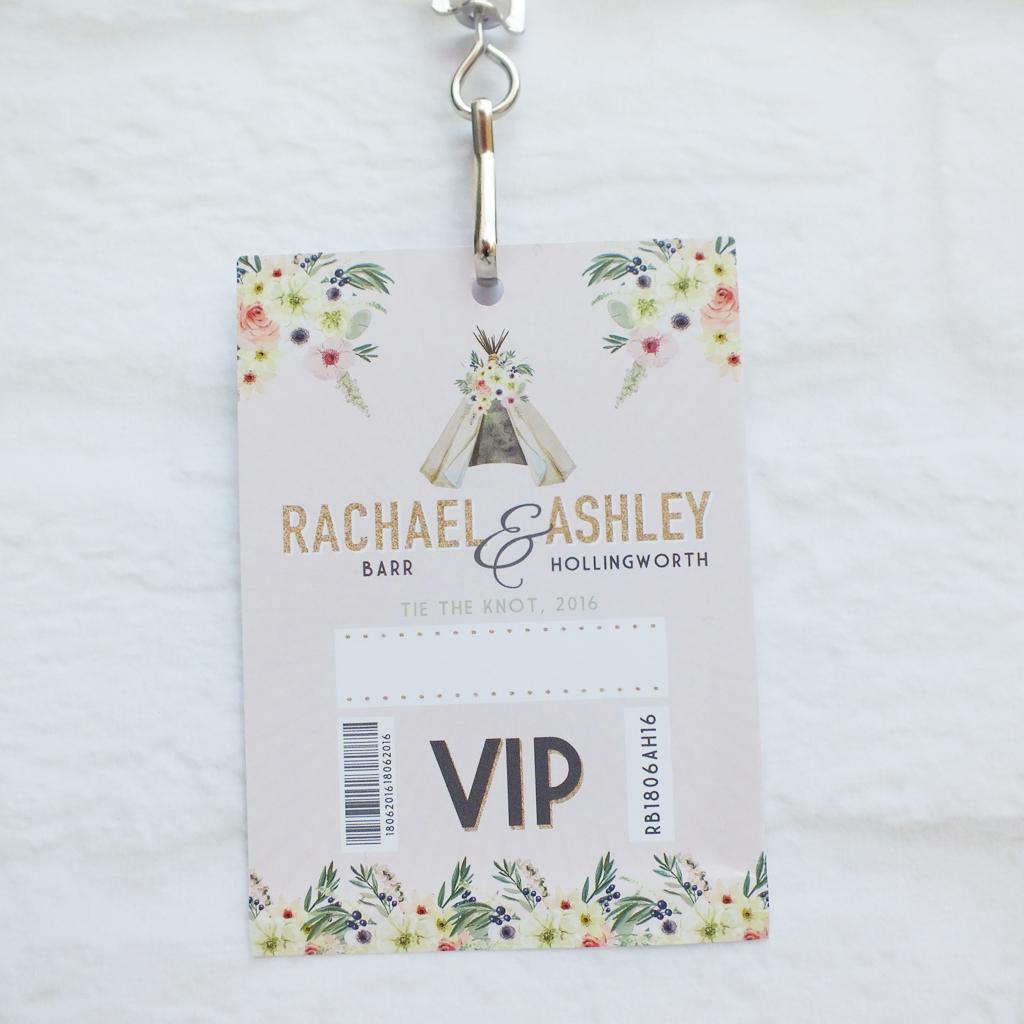 Bespoke Wedding Stationery - Festival Lanyard Wedding Invites