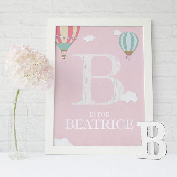 Initial Customised Print | Heart Invites | Beautiful Personalised Wedding Stationery