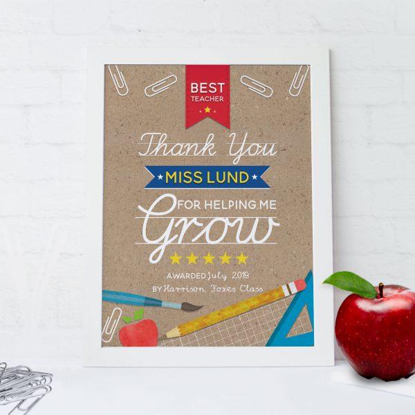 Best Teacher Award Print
